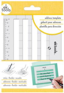 EK Tools Address Template Lettering Guide Sticky Flexible Resuable EK Success