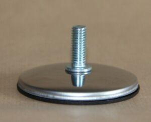 M10  CHROME Threaded Stem Adjustable Furniture Feet 60 mm. elevate