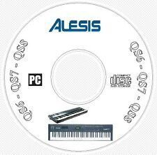 Alesis QS6 QS7 QS8 Sound Patch Library Manual MIDI Software Editors CD  QS 6 7 8