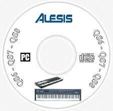 Alesis QS6 QS7 QS8 Sound Patch Library Manual MIDI Software Editors CD  QS 6 7 8