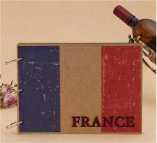 DIY Kraft 30Pages 19.5 x 26.5cm MDF Cover Photo Album Wedding Scrapbook France