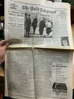 EAST GERMANY CLOSES BORDER REPRINT 14 AUG 1961 DAILY TELEGRAPH UK NEWSPAPER