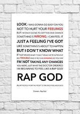 Eminem - Rap God - Song Lyric Art Poster - A4 Size