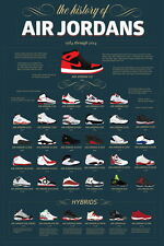 "TY02675 Michael Jordan Nike Air Jordan Brand Hot Canvas Big 24""x36"" Poster"