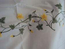 Bettwäsche Bezug Duvet Urbanara Avoine Blume weiß Stickerei Hohlsaum 225x220
