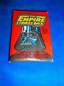 1980 Topps Star Wars EMPIRE STRIKES BACK Series 1 Wax Pack Gum Intact RARE