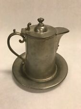 Pewter  mini pitcher plate Rockford and co. 1344  2 pieces