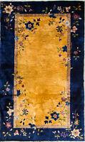 "4' x 6'9"" Magnificent Antique Art Deco Chinese Oriental Rug, #17091"