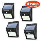 Waterproof 20 LED Solar Power PIR Motion Sensor Wall Lights Outdoor Garden Lamp