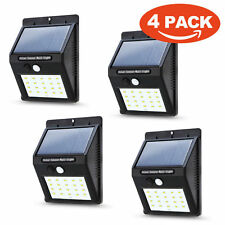 20 LED Solar Power PIR Motion Sensor Wall Light Waterproof Lamp Outdoor Garden