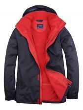 Uneek Deluxe Outdoor Men's Jacket 100%25 Waterproof Windproof Fleece Lined (UC621)