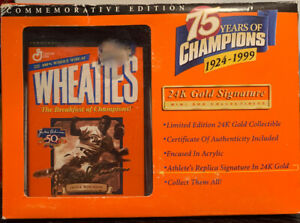 Wheaties 75 Years Of Champ 24 K Gold Signature Limited Edition Jackie Robinson
