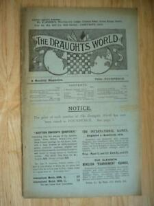 The Draughts World A Monthly Magazine Vol 41 No 193 1913 SCARCE