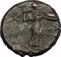 LARISSA Thessaly THESSALIAN LEAGUE 2ndCenBC Athena Apollo Greek Coin i43511