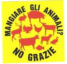 100 mangiare Animali No Stickers Vegan Animal Liberation Punk Ska HC sxe Veggie