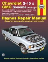 Chevrolet S-10 & GMC Sonoma Pick-Ups Haynes Repair Manual (1994-2004)