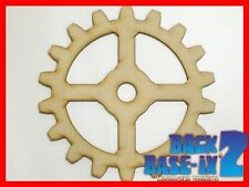MDF Wooden 4 Spoke Cogs 150mm High 3mm Thick Custom Cut x 5 pieces