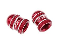 MOWA Schrader American Road Mountain BMX Cycling Bike Alloy CNC Valve Caps Red