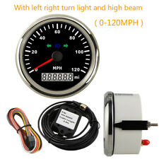 85mm GPS Speedometer 120 MPH With left right turn light and high beam Red LED