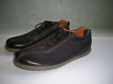 New ECCO men's black pebbled leather lace up casual oxford shoes SZ 45 US 1