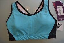 Sturdy girl sports bra women's size 32D New with tags Topaz/black