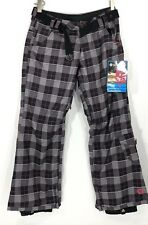 Sessions Womens Ridge series RECCO 10k Snowboard Pants Plaid Belted Pink Small