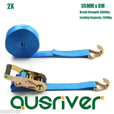 """A Pair of Heavy Duty 1¼/"""" by 15/' foot Ratchet Tie Down Strap BD342"""