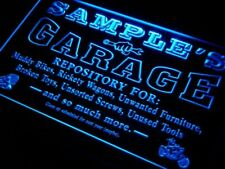 pp-tm Name Personalized Custom Garage Basement Den Repair Neon Sign
