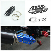CNC Aluminum Motorcycle Exhaust Muffler Pipe Crash Guard Heat Shield Protection