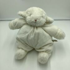 """Bunnies By The Bay Lamb Sheep White Plush Stuffed Carrots Animal Soft Toy 12"""""""