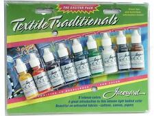 Jacquard Textile Colors set of 9 colours of fabric paint