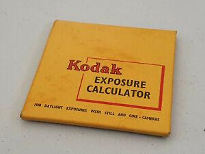 Vintage Kodak Exposure Calculator - Daylight Exposures with Still & Cine Cameras