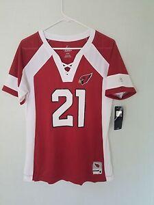 WOMENS NFL Team Apparel ARIZONA CARDINALS #21 PATRICK PETERSON  VNeck Jersey NWT