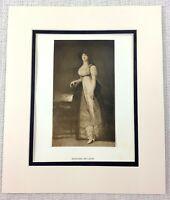 1922 Antico Stampa Goya Ritratto Di Un Lady Marquesa De Lazan Spagnolo Nobility