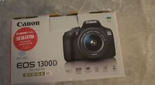 Canon EOS 1300D 18.0MP Digitalkamera - Schwarz (Kit mit EF-S 18-55mm III DC Objektiv)