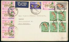 Mayfairstamps Singapore 1963 M3 Cancels to Aachen Germany Multifranked Airmail C