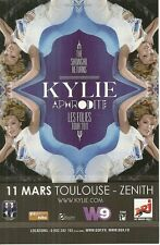 FLYER PLV - KYLIE MINOGUE EN CONCERT LIVE A TOULOUSE ( FRANCE ) 2011
