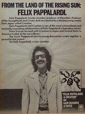 mountain FELIX PAPPALARDI 1976 Poster Ad CREATION