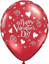 """Happy Valentines Day"" Swirling Hearts Latex Balloons 2 for $1.50"