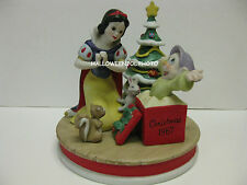 SNOW WHITE Dopey 1987 Christmas Figurine Limited Edition DISNEY GROLIER