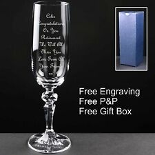 Personalised Champagne Flute Retirement Gift