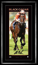 Black Caviar Luke Nolen Hand Signed & Framed Vertaramic Limited Edition Print