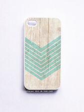 iPhone 4/ 4S Case- Wood Geometric Aquamarine