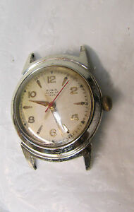 Vintage Rubis Incabloc 17 Jewels Men's Watch for Parts or Repairs