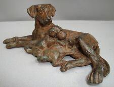 Statue Sculpture Dog Wildlife Art Deco Style Art Nouveau Style Bronze Signed
