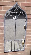 Eastern garden mirror Grey 110cm Ornate Outdoor Garden Wall Mirror