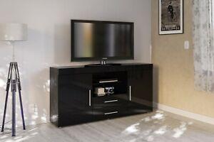 New Birlea Edgeware TV Unit Or Sideboard in Black White Grey or Walnut