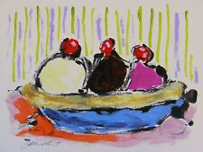 Original Ice Cream Food Acrylic Impressionism