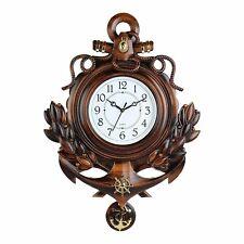 Pendulum Classic Design Anchor Plastic Wall Clock For Living Room/Bedroom/Office