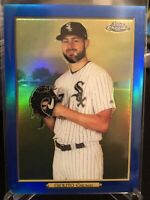 2020 Topps Series Two Lucas Giolito Topps Chrome Turkey Red Blue Refractor 11/50